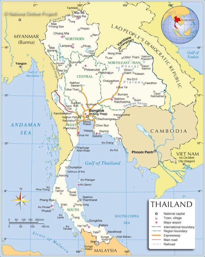 carte_thailande_politique_regions_autoroutes_aeroports